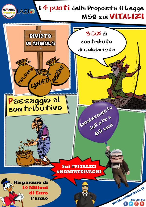 M5S Lazio contro i privilegi di#vitaliziopoli