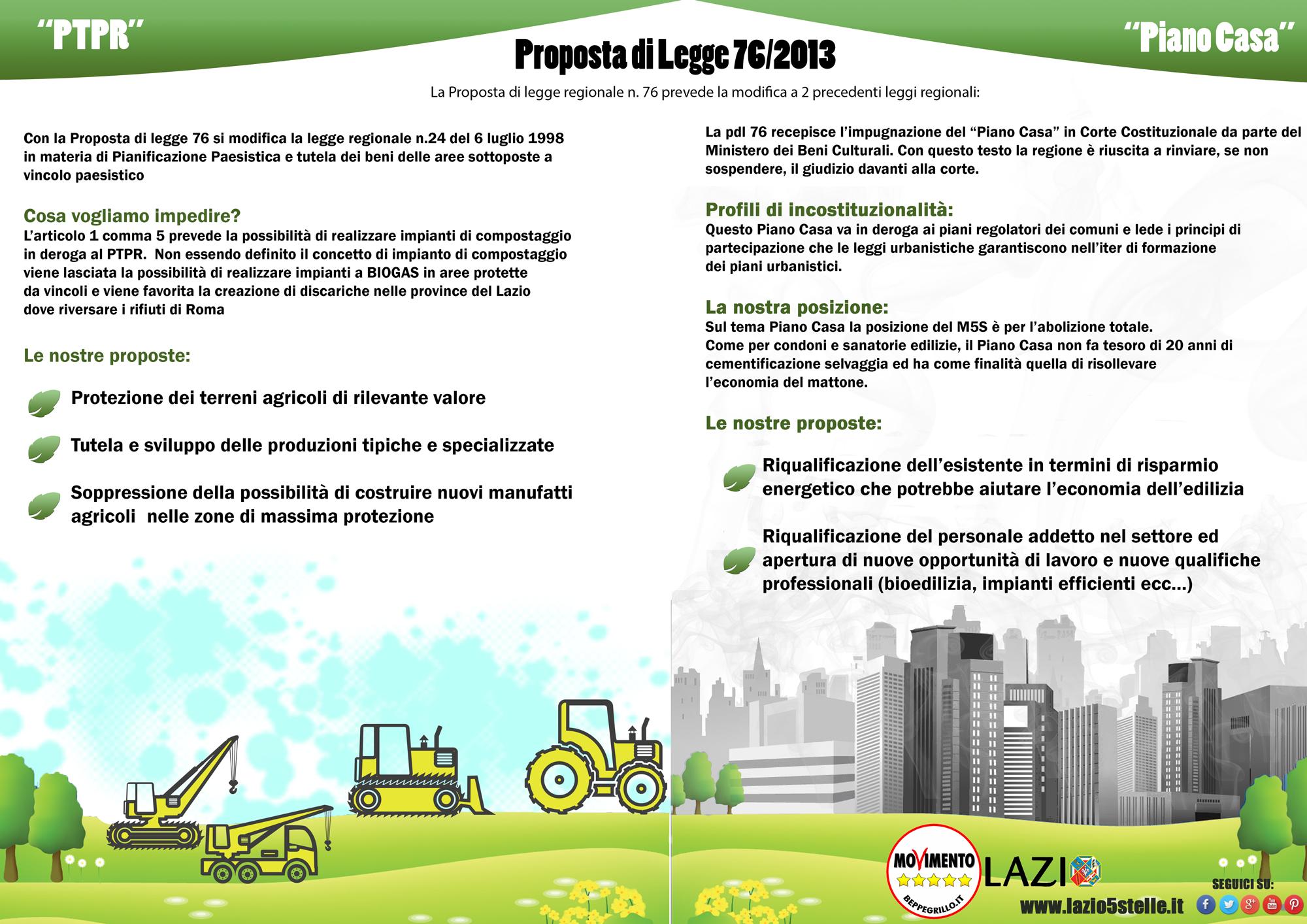 La legge 76 per la tutela del territorio e piano casa - Legge piano casa ...