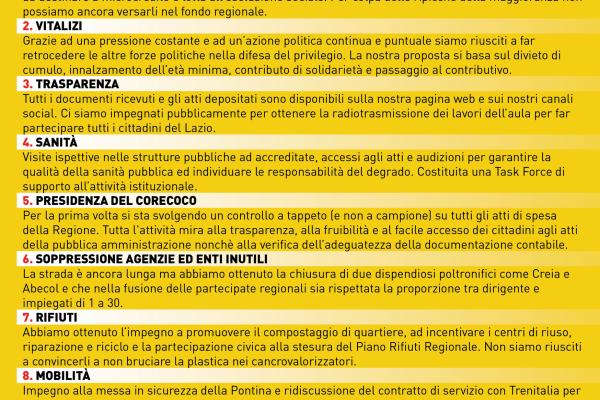 Lazio: la buona notizia