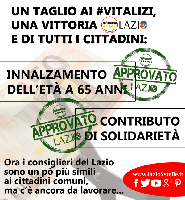Vitalizi, Perilli: Zingaretti si prende meriti non suoi, nostro voto favorevole solo a vitalizi no a omnibus