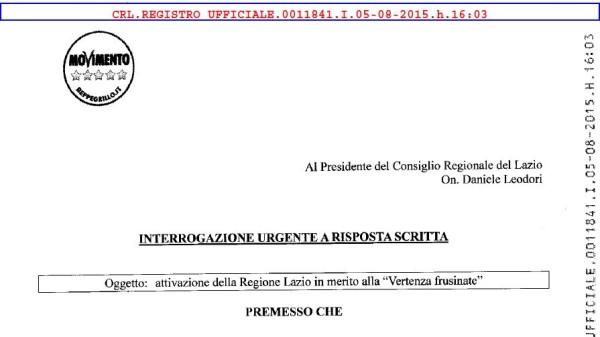 Lavoro, Denicolò: chiarimenti su crisi lavoro e imprese in provincia di Frosinone