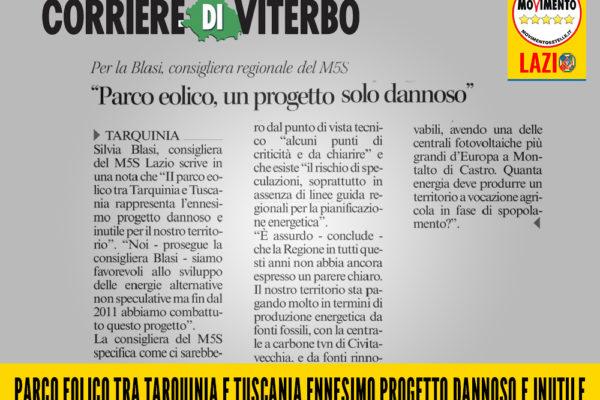 Il parco eolico Tarquinia Tuscania è dannoso